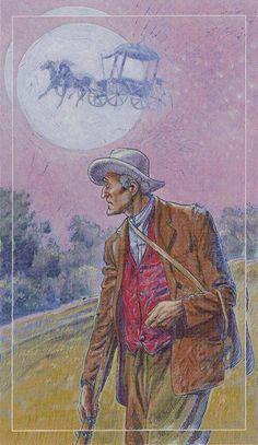 VII. The Chariot - Tarot of the Spirit World by Roberto de Angelis, Bepi Vigna