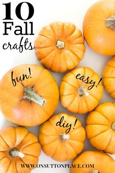 10 DIY Fall Crafts | Easy ways to bring a hand made touch of Fall into your home! onsuttonplace.com