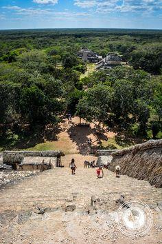 Climbing the Mayan Ruins at Ek Balam by ACruisingCouple, via Flickr