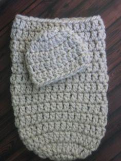Easy Crochet Pattern - Cozy Baby Cocoon & Beanie Hat - Size Newborn