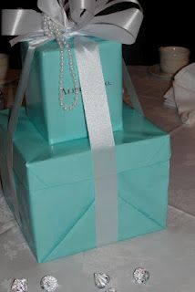 """More """"Alphie & Co."""" decor . . . .  """"Tiffany's"""" is the perfect ADPi theme, because our colors are blue and white and our symbol is the diamond!"""