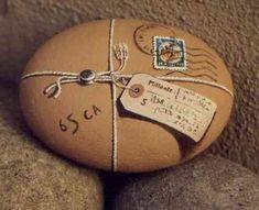 Painted rock package! / Paquete pintado sobre roca :)