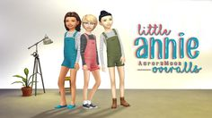 Sims 4 CC's - The Best: Overalls for Kids by AuroraMoonSims