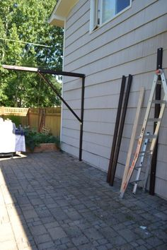diy frugal patio pergola