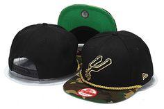 NBA New Era San Antonio Spurs Hats Black Camo Brim 121|only US$8.90