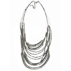 "JousJous Silver Layers Handmade Necklace, Matinee Length, 24"" Long (Jewelry)"