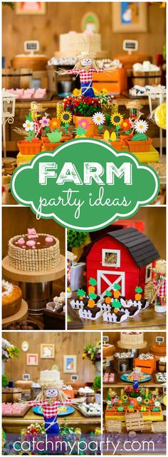 So many great ideas at this farm birthday party! See more party ideas at CatchMyParty.com!
