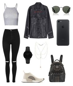 """polyvore"" by jesy-smith on Polyvore featuring mode, adidas Originals, Topshop, T By Alexander Wang, MCM, Ray-Ban, CLUSE et Charlotte Russe"