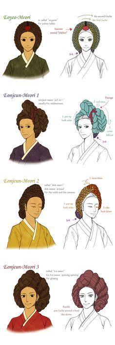 Hanbok, A Queen's Hair by Glimja on DeviantArt Korean Hanbok, Korean Dress, Korean Outfits, Korean Traditional Dress, Traditional Dresses, Traditional Wedding, Traditional Hairstyle, Korean Art, Cute Korean