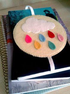 Marcador de página Chuva colorida