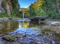 Irvine River in Elora Ontario  A great place to splash in the water.