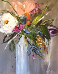 Buy Bistro Bunch, Acrylic painting by Kathy Morawiec on Artfinder. Discover thousands of other original paintings, prints, sculptures and photography from independent artists. Acrylic Flowers, Abstract Flowers, Acrylic Art, Abstract Art, Watercolor Paintings, Original Paintings, Original Artwork, Bob Ross, Painting Inspiration