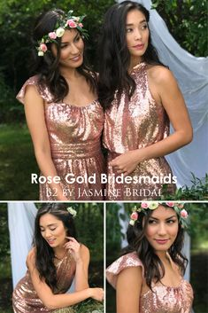 faef92d94cd JASMINE BRIDAL. Mix Match BridesmaidsPlus Size BridesmaidRose Gold  BridesmaidSimple Bridesmaid DressesJasmine ...