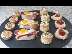 CANAPÉS FÁCILES Y RÁPIDOS - Aperitivos de Navidad - YouTube Fingerfood Party, Appetizers For Party, Japanese Cheesecake, Decadent Cakes, Party Finger Foods, Food Inspiration, Catering, Food And Drink, Cooking Recipes