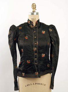 1880 Bodice Culture: European Medium: silk
