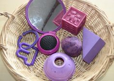Counting Coconuts: Treasure Basket: Blue, Green, & Purple