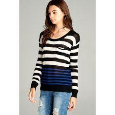 Lauren Long Sleeve Stripe Sweater