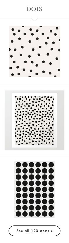 """DOTS"" by bambi-52 ❤ liked on Polyvore featuring home, home decor, wall art, backgrounds, polka dot wall art, music wall art, vintage home decor, vintage wall art, inspirational home decor and black white wall art"