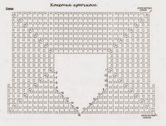 Квадратная кокетка крючком. По | Crochet
