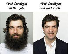 Así es un programador web ¡con y sin trabajo!