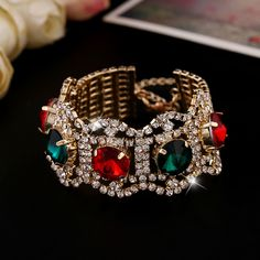 OL Gold Crystal Bracelet ladies fashion atmosphere exaggerated all-match crystal bracelet jewelry wholesale SL219