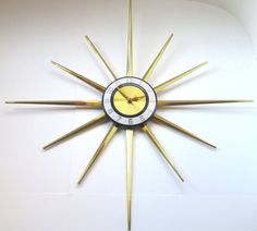 Mid Century Modern Atomic Starburst Wall by TheVintageResource