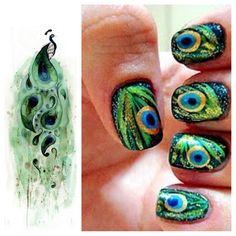 Peacock nails !