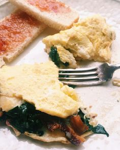 Spinach, Bacon and Cheese Omelet