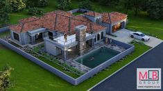3 Bedroom House Plans - My Building Plans South Africa 5 Bedroom House Plans, Floor Plan 4 Bedroom, Bedroom Balcony, My House Plans, My Building, Building Plans, Master Suite, Small Apartment Bedrooms, House Outside Design