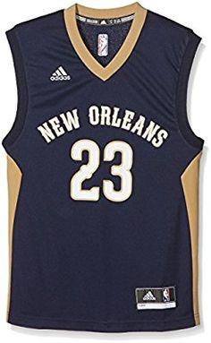 a9cd23d4034 adidas Herren Trikot Int Replica Jersey 23 Pelicans, Dark Blue/Gold/White,  XS, A16541