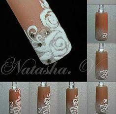 Nail Polish Art, 3d Nail Art, Nail Arts, Different Nail Designs, Cute Nail Designs, Bling Nails, 3d Nails, Long Nail Art, Nails Only