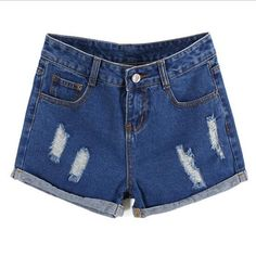 New Plus Size Hollow Out Women Print Jeans Shorts Summer Style Hole Design Denim Shorts for Women Jeans Shorts 26 - 34