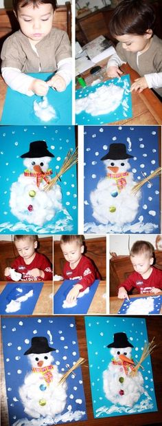Meven et Nola ont fait chacun leur bonhomme de neige Un peu de coton Un peu de p DIY Beton Lampe - Stilvolles DIY Projekt mit Beton. Leicht gemacht & super schön in jedem Raum! Auch als originelle Geschenkidee geeignet. Kids Crafts, Christmas Crafts For Kids, Kids Christmas, Diy And Crafts, Christmas Quotes, Diy Crochet Hairstyles, Diy Crochet Basket, Crochet Diy, Diy Spring Weddings