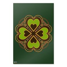 f you love eclectic four leaf clovers, mischievous leprechauns and divinely beautiful Celtic crosses you will find phenomenal St Patrick's day wall art pieces. find St Patrick's Day wall clocks,  St Patrick's Day Wall hangings and St Patrick's Day decorative signs and many other St Patrick's Day decorative accents.    Four Leaf Clover Lucky Home Business Office Sign - Laminated Poster - 24