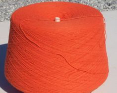 Orange Machine Knitting Yarn, Orange Knitting Yarn, Orange Cone Yarn by stephaniesyarn on Etsy