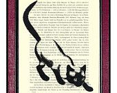 CAT That WALKED By HIMSELF Book Page Art Dictionary Page Antique Dictionary Art Print Vintage Art Print Old Book Page Print Cat Art. $9.00, via Etsy.