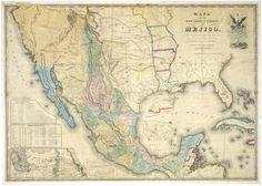 Mapa antiguo de Mexico