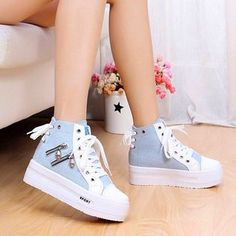 Buy Solejoy Canvas Platform Sneakers at YesStyle.com! Quality products at remarkable prices. FREE WORLDWIDE SHIPPING on orders over US$35.