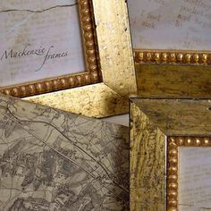 4x6 Narrow Distressed Soft Gold Photo Frame on Etsy, $28.00