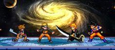 Super Smash Flash é uma versão simplificada e divertida de Super Smash Bros Brawl. Você pode jogar com Sora, Naruto, Ichigo ou Goku.