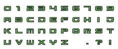 Letras Verde Pistola