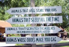 This is so true, isn't it? The animals are always either sleeping, stinky, or sleeping while being stinky. They're still cute, though!