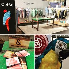 A colourful booth at the Modefabriek Amsterdam..!! #positivevibes #coloursandsons #lookinggood #newcollection #colours #colors #fair #amsterdam #modefabriek #casual #busy #newclients #inspiration #style #menswear #parrot #compañeros #friends