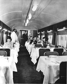 Image detail for -Dining car on the Santa Fe Chief - Kansas Memory