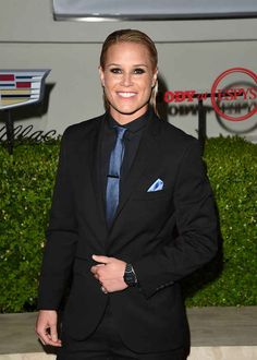 And Ashlyn Harris showed up all the men with her suit game.