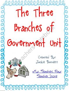 Three Branches of Government Unit product from Fun-in-Elementary on TeachersNotebook.com