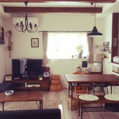 plusfavoriさんの、Overview,観葉植物,照明,アンティーク,ハンドメイド,DIY,カフェ風,男前についての部屋写真