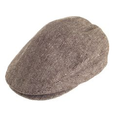 Jaxon   James Marl Tweed Flat Cap - Brown from Village Hats. Jaxon Hats 54192725d4b4