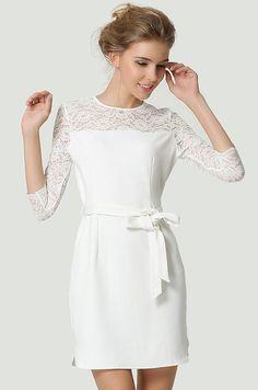 robe-mariee-courte-ceremonie-civile mllebride.com maman dit : pas mal avec un manteau même longueur