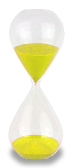 Freestanding Yellow 60 Minute Hourglass by CrayCraySupply on Etsy